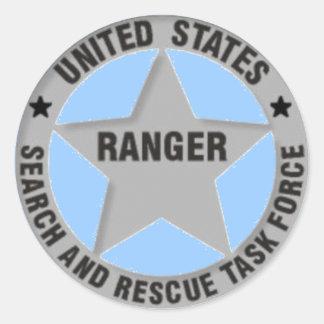 U.S. レーンジャーの調査および救助のタスクフォース ラウンドシール