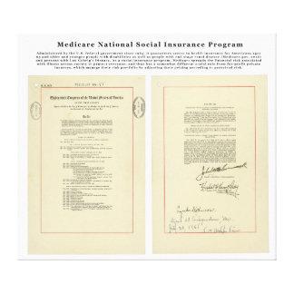 U.S. 医療保障の国民の社会保険プログラム キャンバスプリント