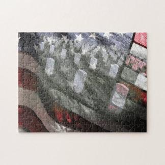 U.S. 墓が付いている旗 ジグソーパズル