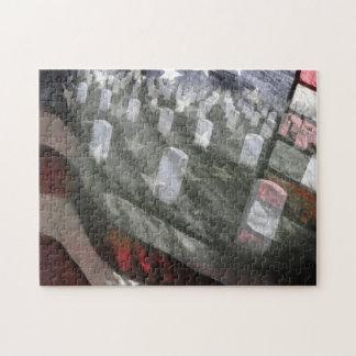 U.S. 墓のジグソーパズルが付いている旗 ジグソーパズル