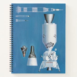 U.S. 宇宙計画-宇宙船の芸術家の概念 ノートブック