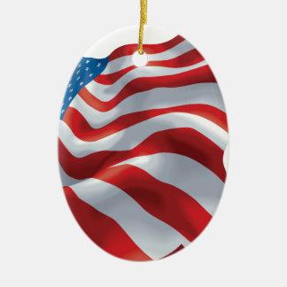U.S. 旗 セラミックオーナメント