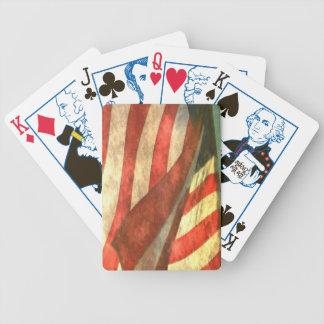 U.S. 旗-古い栄光のトランプ バイスクルトランプ