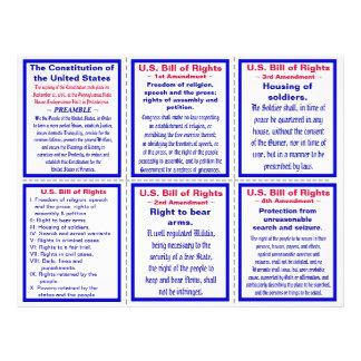 U.S. 権利章典の小型のパンフレット チラシ