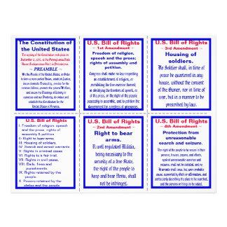 U.S. 権利章典の小型のパンフレット(25ct) チラシ