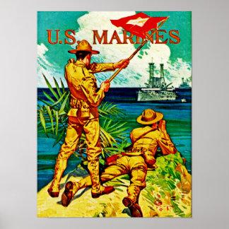 U.S. 海兵隊員の~のシグナルフラグ ポスター