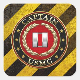 U.S. 海兵隊員: 監督して下さい(USMCの大尉) [3D] スクエアシール