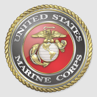 U.S. 海兵隊(USMC)の紋章[3D] 丸型シール