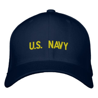 U.S. 海軍によって刺繍される帽子 刺繍入りキャップ