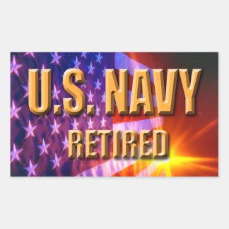 U.S. 海軍退職したなステッカー 長方形シール