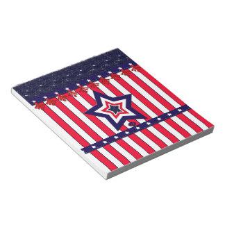 U.S. 祝祭日の愛国心が強いお祝い ノートパッド