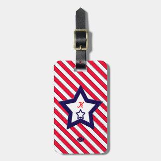 U.S. 祝祭日の愛国心が強いお祝い ラゲッジタグ