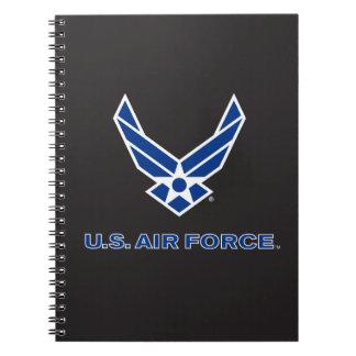 U.S. 空軍ロゴ-青 ノートブック