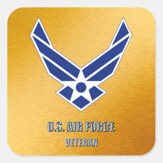 U.S. 空軍獣医のステッカー スクエアシール