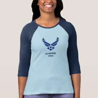 U.S. 空軍退役軍人の女性のBella+キャンバスのワイシャツ Tシャツ