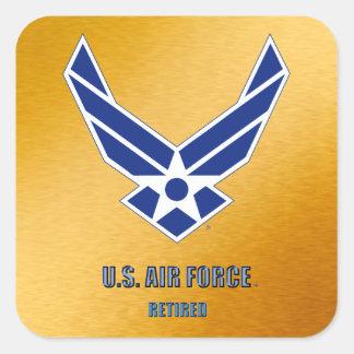 U.S. 空軍退職したなステッカー スクエアシール