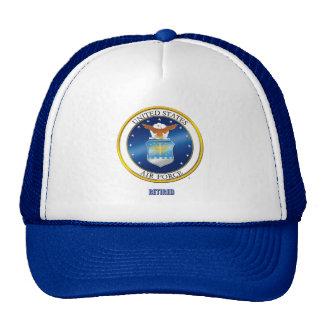 U.S. 空軍退職したな帽子 トラッカー帽子