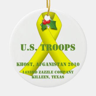 U.S. 軍隊 陶器製丸型オーナメント
