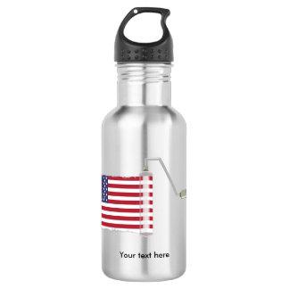 U.S.A. 旗のペンキローラー ウォーターボトル