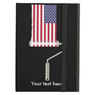U.S.A. 旗のペンキローラー iPad AIRケース