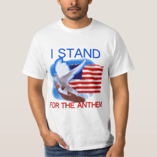 U.S. Flag and Dove I Stand For The Anthem Tシャツ