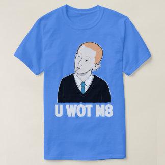 U WOT M8どんな仲間のインターネットのミームのおもしろいなティー Tシャツ