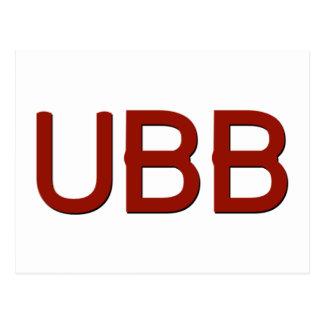 UBBのスワッグ ポストカード