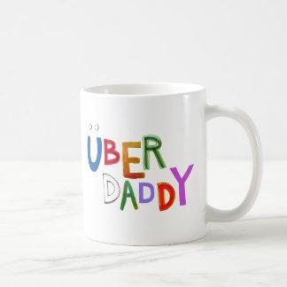 Uberのお父さんのよいパパの父によってすごいおもしろいの芸術の単語 コーヒーマグカップ
