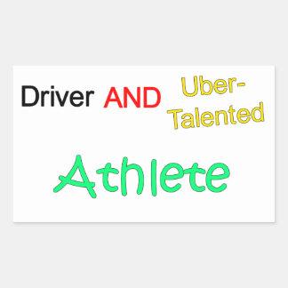 Uberの有能な運転者およびアスリートのステッカー 長方形シール