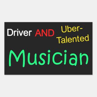 Uberの有能な運転者およびミュージシャンのステッカー 長方形シール