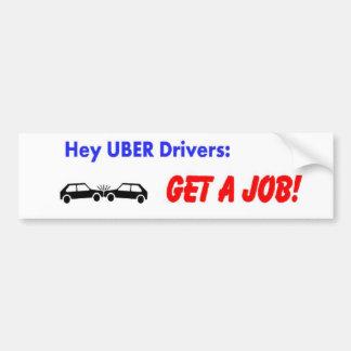 Uberの運転者のバンパーステッカー バンパーステッカー
