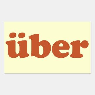 Uber 長方形シール