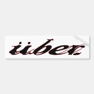 UberBumperのステッカー バンパーステッカー