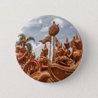 Ubon Ratchathaniの蝋燭のフェスティバル旅行ボタン 5.7cm 丸型バッジ