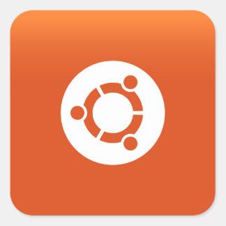 Ubuntuのオレンジgrdiant スクエアシール