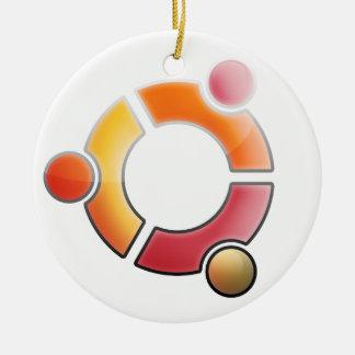 Ubuntuのガラスオーナメント セラミックオーナメント