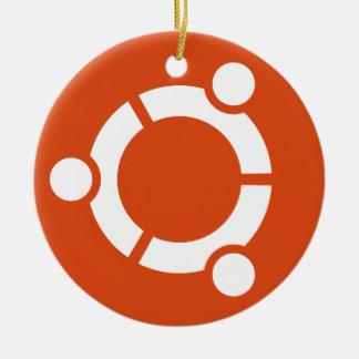 Ubuntuの円のオーナメント セラミックオーナメント