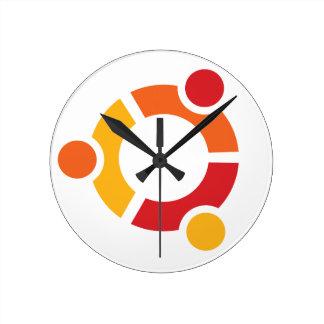 Ubuntuの時計 ラウンド壁時計