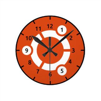 Ubuntuの柱時計 ラウンド壁時計