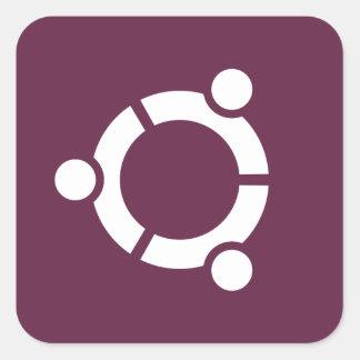 Ubuntuの紫色 スクエアシール