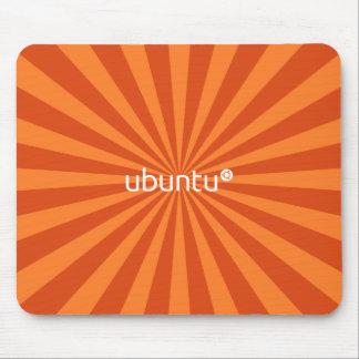 UbuntuのLinuxのオレンジのスターバスト マウスパッド