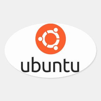 UbuntuのLinuxのロゴ 楕円形シール