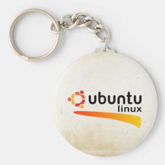 UbuntuのLinuxの開いた源 キーホルダー