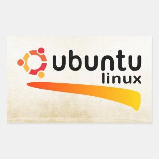 UbuntuのLinuxの開いた源 長方形シール