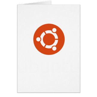 UbuntuのLinuxのTシャツ カード