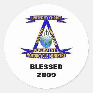 UCBIのバイクの天恵のステッカー2009年 ラウンドシール