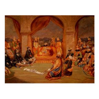 Udaipur、ラージャスターン州1855年のDurbar ポストカード