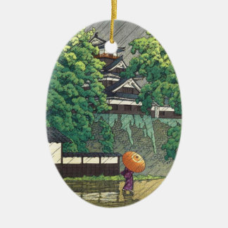 Udoタワー、熊本の城(熊本jô Udoyagura) セラミックオーナメント