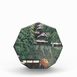 Udoタワー、雨- Kawase Hasuiの熊本の城 表彰盾