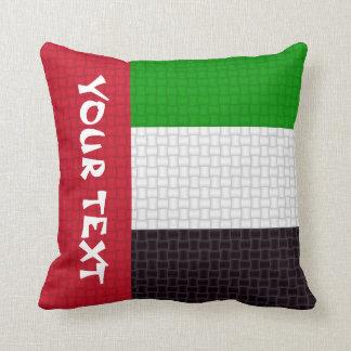 UEAアラブ首長国連邦の旗: 文字を加えて下さい クッション